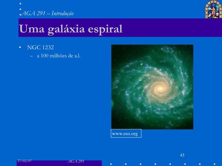 Uma galáxia espiral