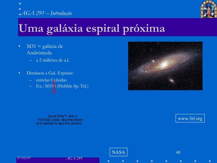 Uma galáxia espiral próxima