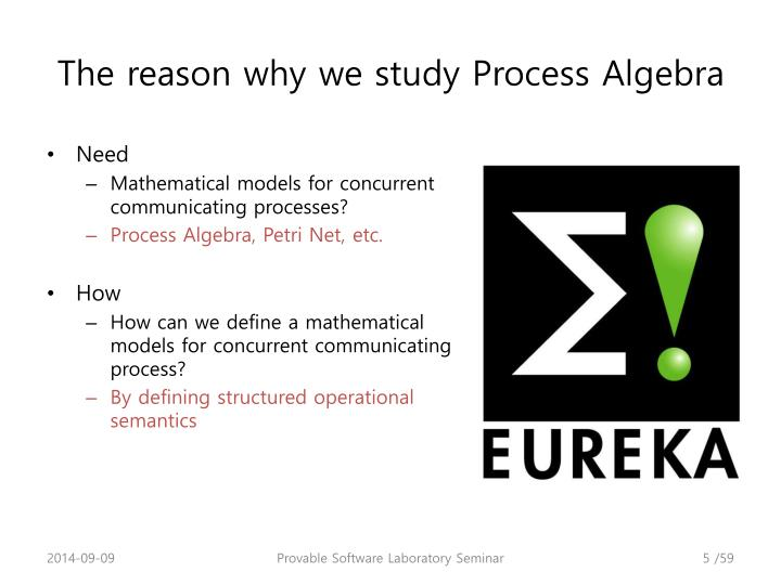 The reason why we study Process Algebra