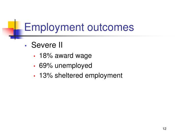 Employment outcomes