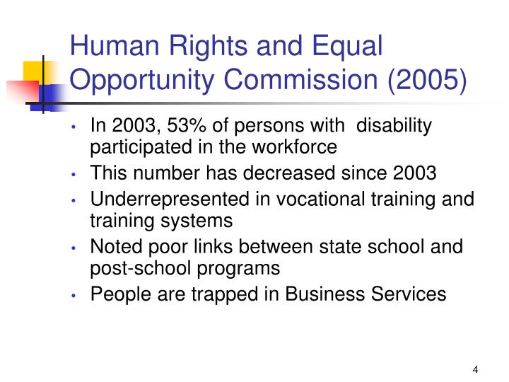 Human Rights and Equal Opportunity Commission (2005)