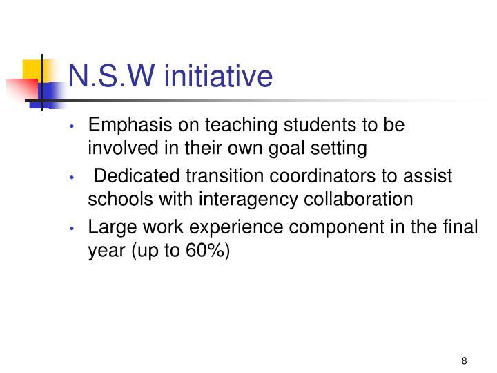 N.S.W initiative