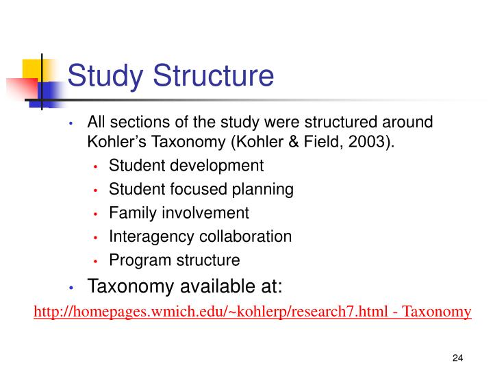 Study Structure