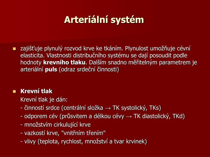 Arteriální systém