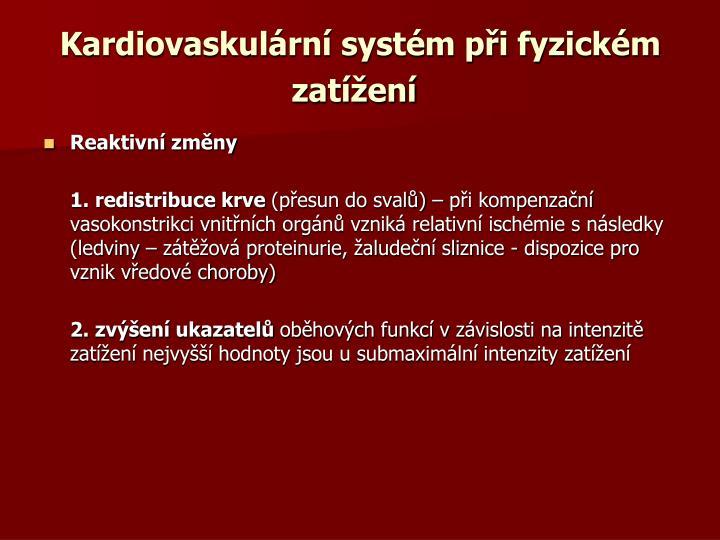 Kardiovaskulární systém při fyzickém zatížení