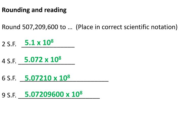Rounding and reading