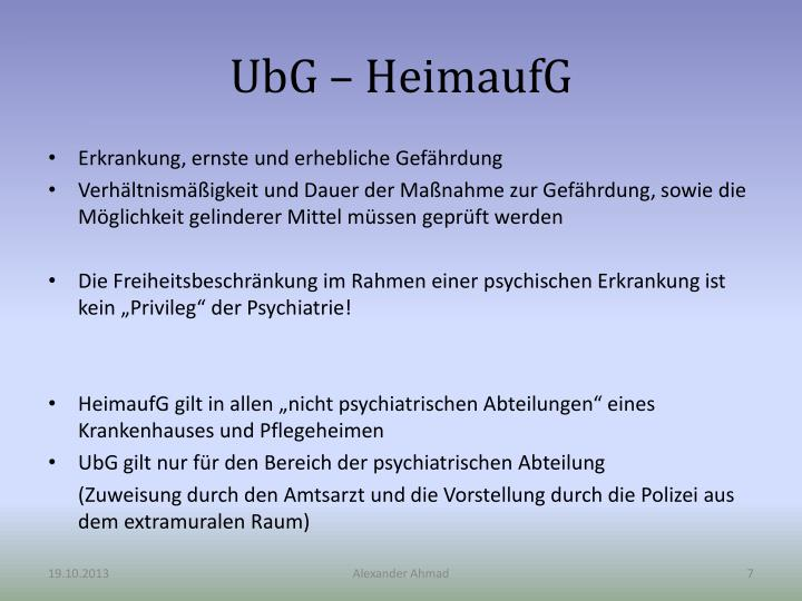 UbG – HeimaufG