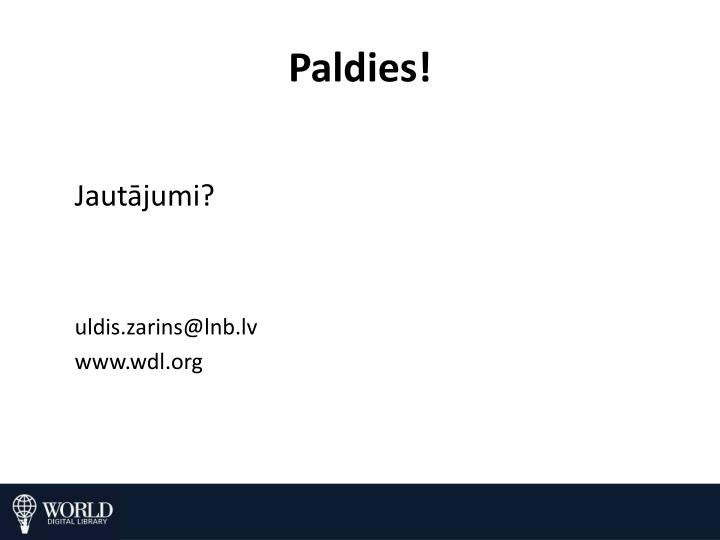 Paldies!