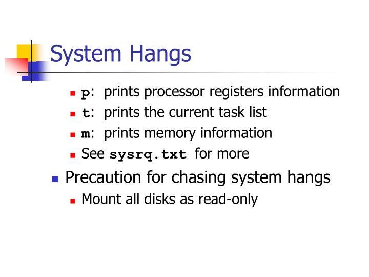 System Hangs