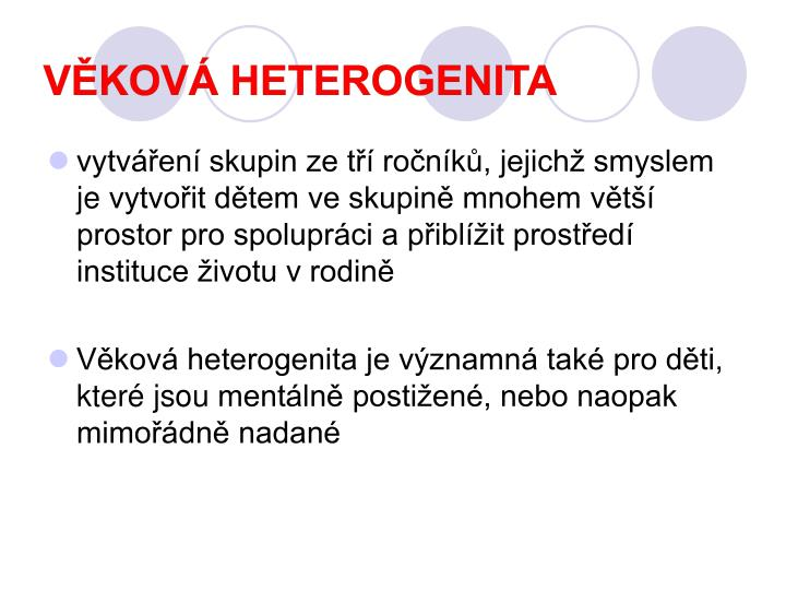 Věková heterogenita