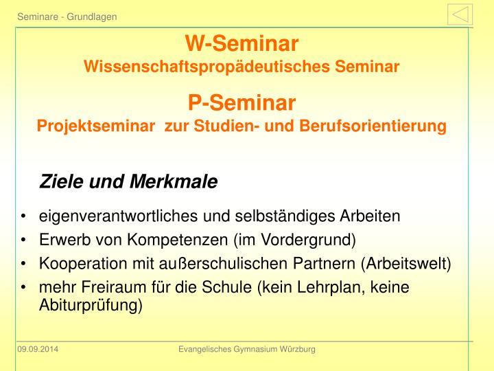 Seminare - Grundlagen