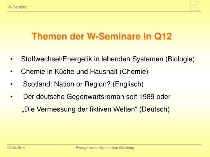 W-Seminar