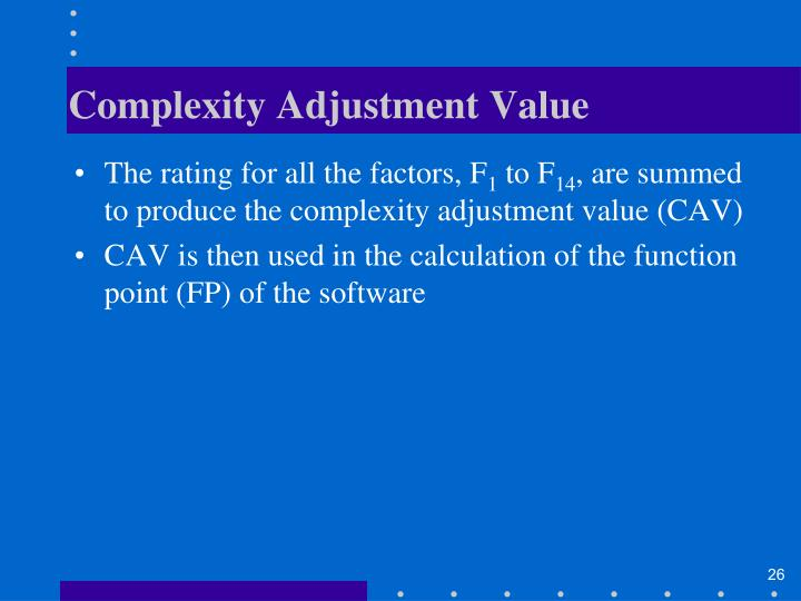 Complexity Adjustment Value