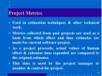 project metrics1