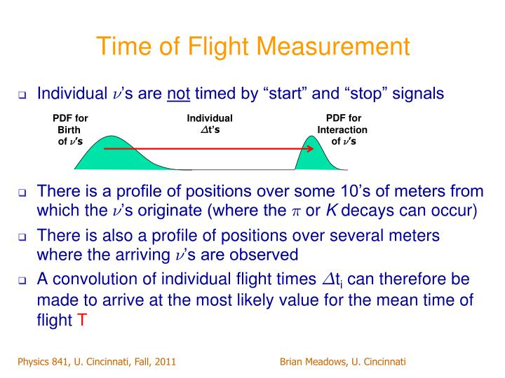 Time of flight measurement
