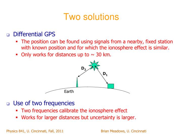 Two solutions