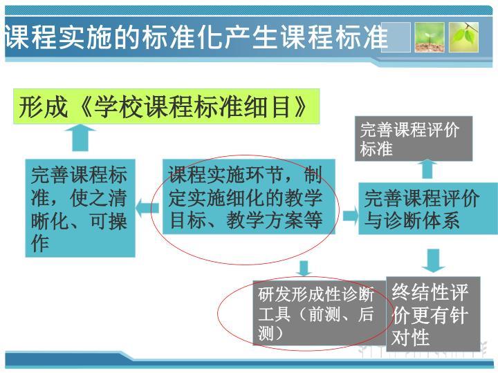 课程实施的标准化产生课程标准