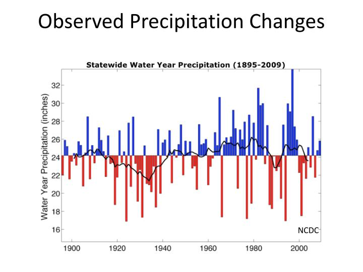 Observed Precipitation Changes