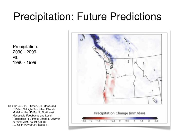 Precipitation: Future Predictions