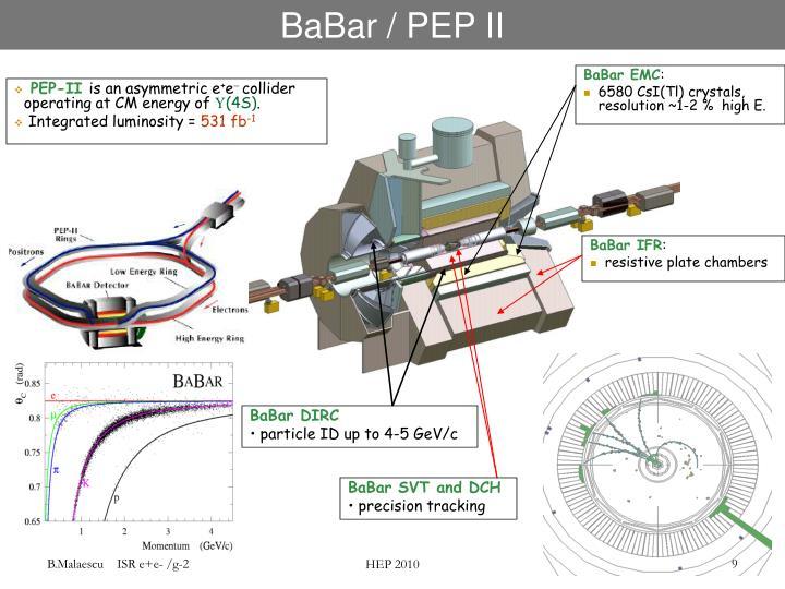 BaBar / PEP II