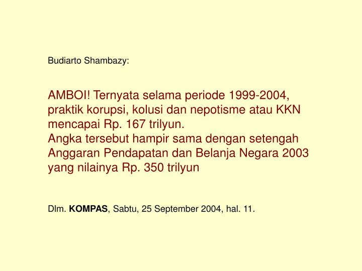 Budiarto Shambazy:
