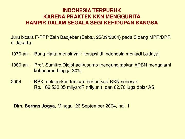 INDONESIA TERPURUK