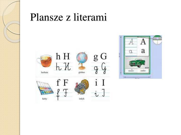 Plansze z literami