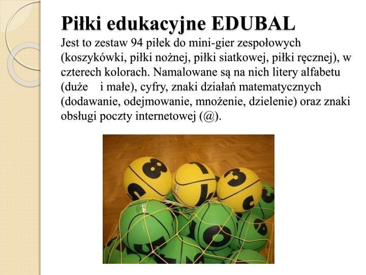 Piłki edukacyjne EDUBAL