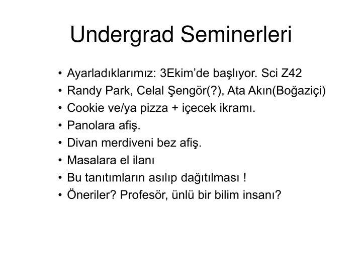 Undergrad Seminerleri