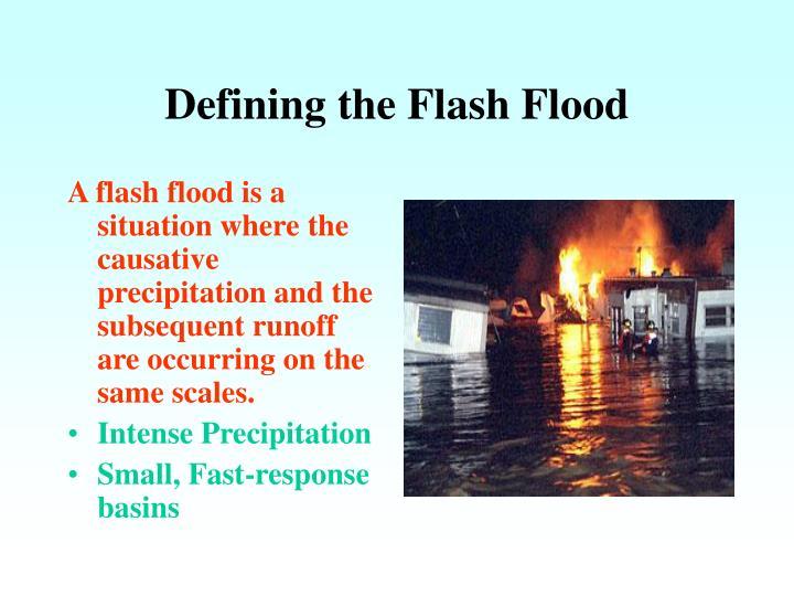 Defining the Flash Flood