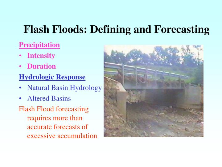 Flash floods defining and forecasting2