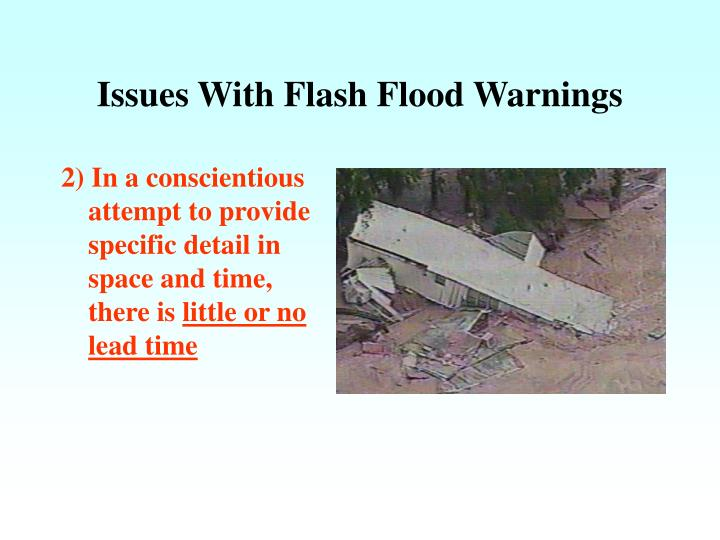 Issues With Flash Flood Warnings
