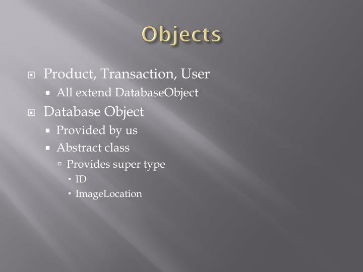 Objects