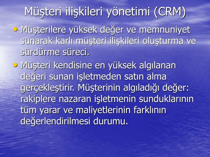 Mteri ilikileri ynetimi (CRM)
