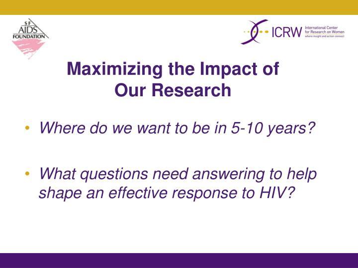 Maximizing the Impact of