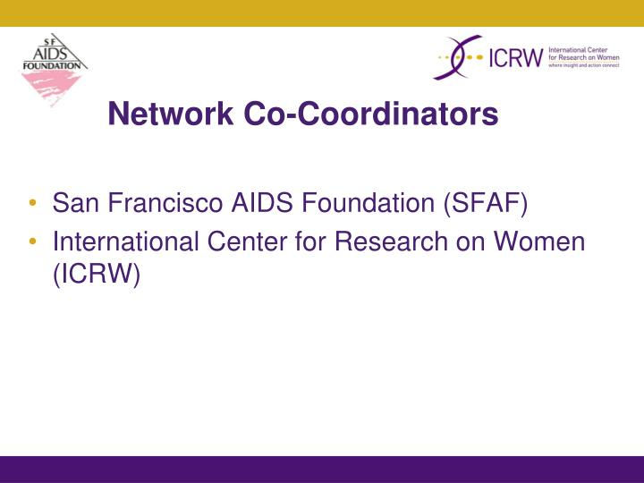 Network co coordinators