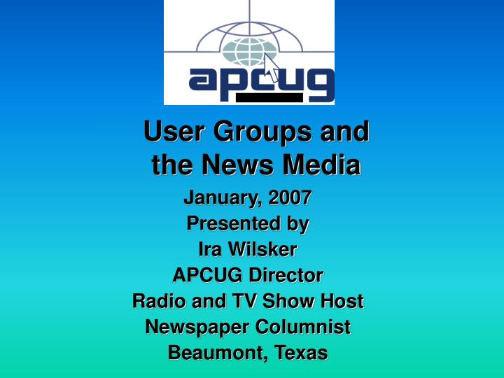 User Groups and