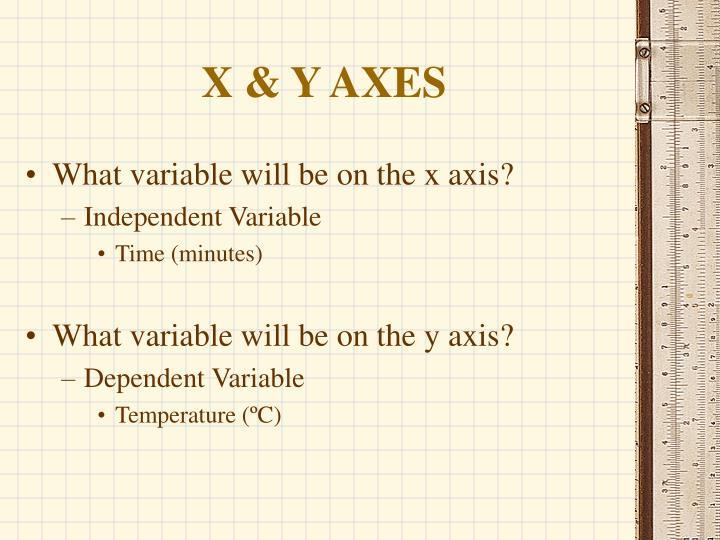 X & Y AXES