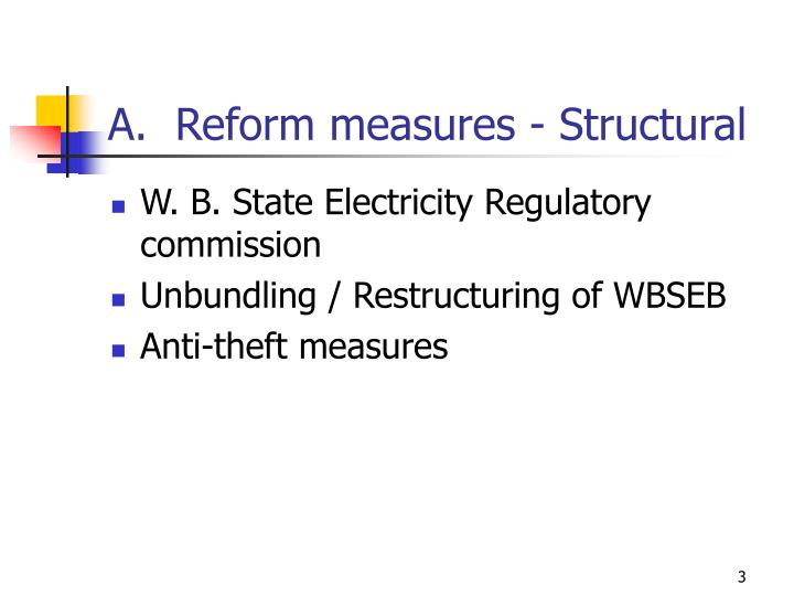 A.  Reform measures - Structural