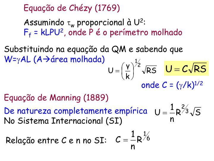 Equação de Chézy (1769)