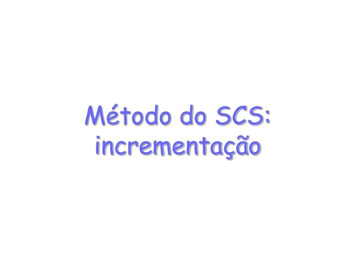 Método do SCS: