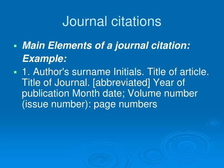 Journal citations