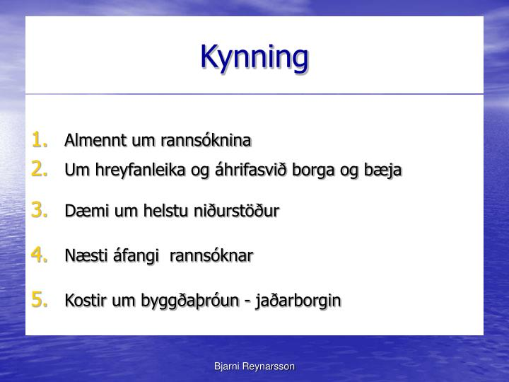 Kynning