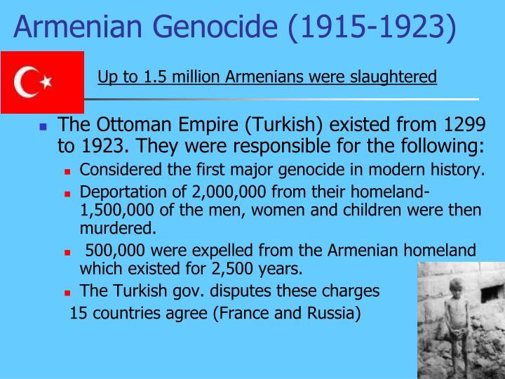 Armenian Genocide (1915-1923)