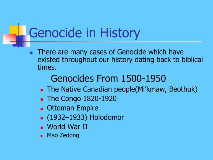 Genocide in History