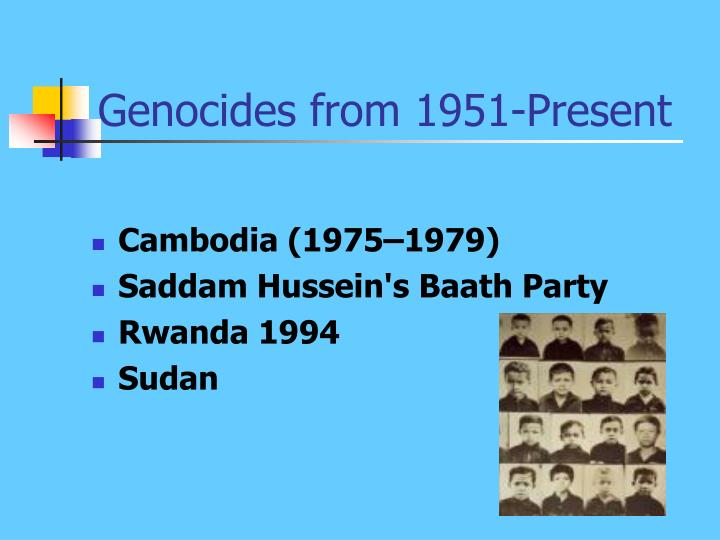 Genocides from 1951-Present