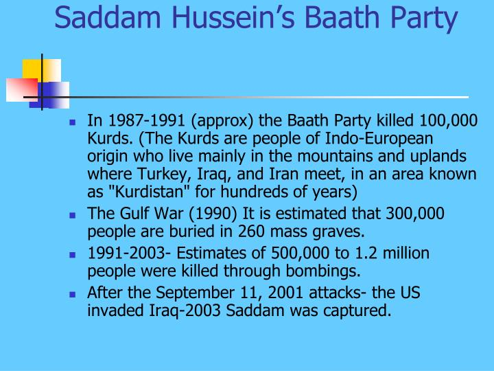 Saddam Hussein's Baath Party