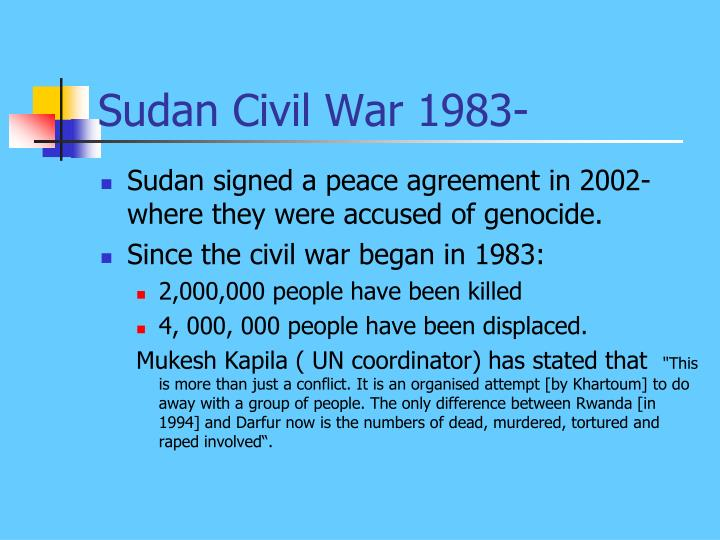 Sudan Civil War 1983-
