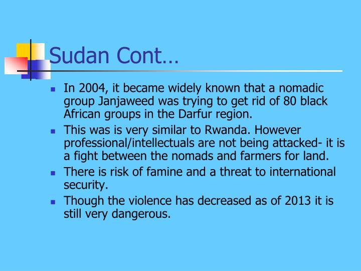 Sudan Cont…