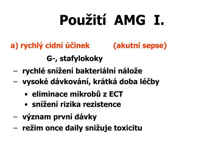 Použití  AMG  I.